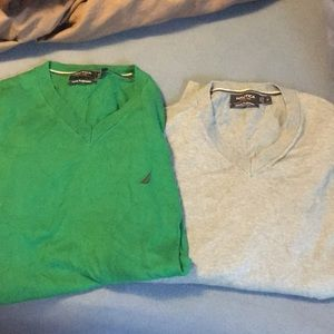 Lot of Nautica men's sweaters